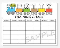 Potty Sticker Chart Diy Diy Printable Potty Training Chart Train Design For Boy Etsy
