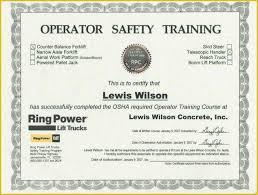 Forklift Certification Card Template Free Of Forklift