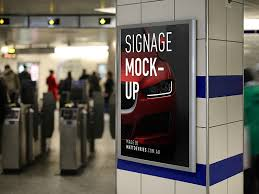 Free Signage Template Smart Advertising Signage Mockup Free Psd Template Psd Repo