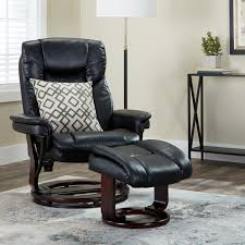 Clay Alder Home Mackinac Modern Swivel Recliner And Ottoman Recliner Ottoman N30