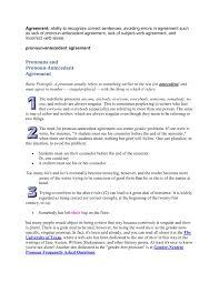 Pronoun Antecedent Agreement Pronouns And Pronoun Antecedent Agreement Evergreen Edu Pages 1