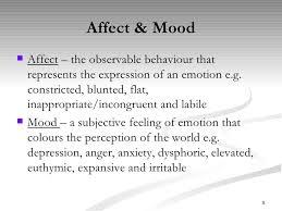 Affect & Mood ...