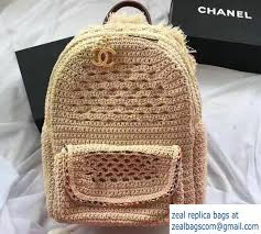 chanel cruise 2017 bags. chanel crochet braid cayo coco backpack bag a93681 beige cruise 2017 bags