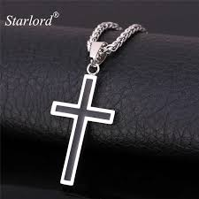 starlord cross necklace pendant jewelry whole 316l snless steel gold personalized cross necklace men