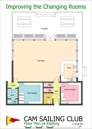 the floor plan of the clubhouse as it is now