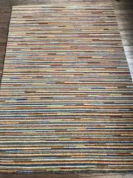 ikea gedser striped wool rug 200cm x 140cm immaculate in bethnal