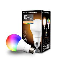 Led Light Bulbs Amazon Goodsmann Smart Led Light Bulbs A21 Rgb Multicolor Tunable Wi Fi Voice Control Compatible With Amazon Alexa And Google Home No Hub Required