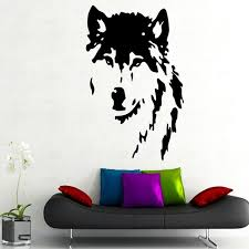 qt024 wolf wall decals home decor removable vinyl wall art stickers