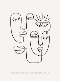 One <b>Line</b> Drawings. <b>Faces</b> & Patterns in 2020 | <b>Line</b> art drawings ...