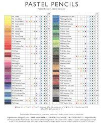 Derwent Coloursoft Color Chart Derwent Pastel Pencils