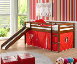 bunk bed with slide and desk. Low Loft Bed Red Tent Slide Espresso Bedroom Furniture Beds Bunk And Desk Alternative Views Stairs With