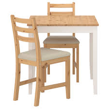 Ikea Small Kitchen Tables Lerhamn Table And 2 Chairs Light Antique Stain Ramna Beige 74x74