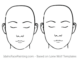 face paint templates faces printable foreheads bigger easy face face paint templates faces printable foreheads bigger
