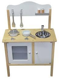 Kidzmotion La Mini Cuisine Wooden Pretend Play Kitchen White Unisex