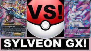 Pokemon Sylveon GX VS Mega Sharpedo EX! PTCGO Jenna Em - YouTube