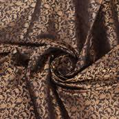 Floral Brocade Pink And Golden Floral Brocade Silk Fabric 8900
