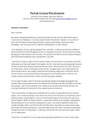 Personal Statement Examples For University Personal Statement Examples For Sixth Form College