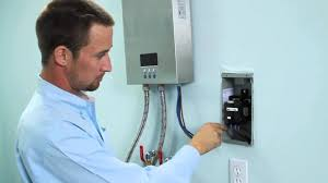 How To Install An Electric Hot Water Heater Installation Of Electric Tankless Water Heater Eco180 Youtube