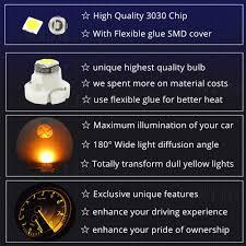 2002 Accord Clock Light Bulb Amazon Com Wljh Super Bright Yellow Led Clock Light Bulb