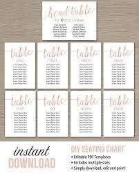 Editable Seating Chart Wedding Seating Chart Cards Margarethaydon Com