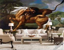 popular lion wall papers buy cheap lion wall papers lots from 3d custom photo wall paper lion and horse fighting tv sofa