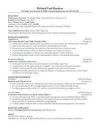 Sample Law Student Resume
