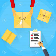 Delivery Service Package Box Receiving Courier Hands Customer