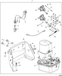 trim pump assembly for mercruiser 4 3l mpi alpha bravo ec mercruiser power trim pump hose diagram Mercruiser Trim Pump Wiring Diagram #22