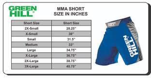 Cage Fighter Shorts Size Chart Size Guide