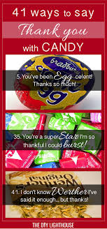 41 ways to say thank you with candy and candy bars cute and clever ideas