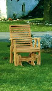 amish pine wood rollback single glider from dutchcrafters outdoor glider chair 17 lakeside