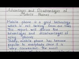 mobile phones essay writing english