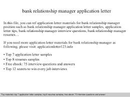 Sample Cover Letter For Client Relationship Manager Cover Letter Relationship Manager Banking