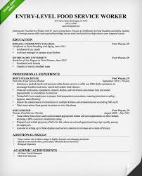 Food Service Resume Enchanting Food Service Worker Resume Templates Shalomhouse Us Samples For