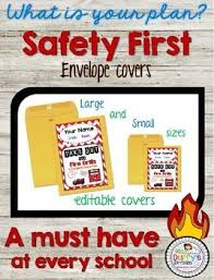 Manila Envelope Size Chart Fire Drill And Emergency Evacuation Envelope Covers Editable