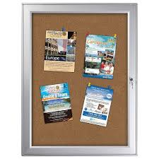 40x4040x40 Premium Enclosed Cork Bulletin Board Outdoor Use Amazing Exterior Bulletin Boards Model Collection
