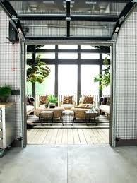 a garage door leading from the kitchen to screened porch frosted glass s interiors with doors