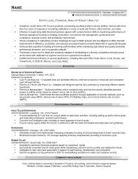 Credit Analyst Resume Example Entry Level Resume Samples Resume Prime