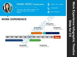 Good Powerpoint Examples Work Experience Infographic Timeline Slide For Cv Good Ppt Example