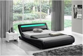 Modern low bed Size Bed Led Light Double 4ft6 Black Rio Modern Designer Low Bed Frame Bedroom Furniture For Sale Online Ebay West Elm Led Light Double 4ft6 Black Rio Modern Designer Low Bed Frame