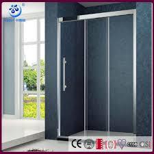 framed alcove 3 sliding bi folding glass shower bath screen door stainless steel frame