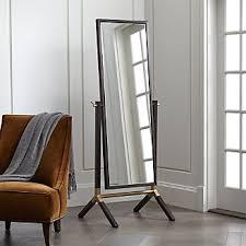 floor mirror. Malvern Espresso Cheval Floor Mirror