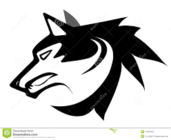 wolf face black and white. Beautiful White Download Wolf Face Tattoo Stock Illustration Illustration Of Outline   14352484 In Face Black And White O