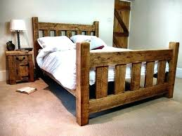how to make a wooden bed frame rustic wooden bed frame plans design ideas for make how to make a wooden bed