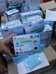 Hộp Khẩu Trang Y Tế Trẻ Em - CAO CẤP- MÃI THÀNH ĐẠT-KK 99,9%(1 hộp 50 cái)-  HÌNH DOREMON | Dụng cụ sơ cứu