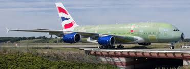 commercial services data services app integration aircraft unblocking a british airways a380 arriving for full livery painting in hamburg