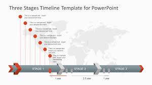 For Powerpoint Three Stages Timeline Template For Powerpoint