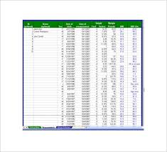 Baby Bmi Chart Calculator 11 Bmi Chart Templates Doc Excel Pdf Free Premium