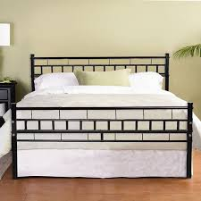 Zimtown Black Queen Wood Slats Bed Frame Platform Headboard ...