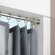 Bedroom Curtain Rod Window Treatment With Tension Rod Curtain Homesfeed
